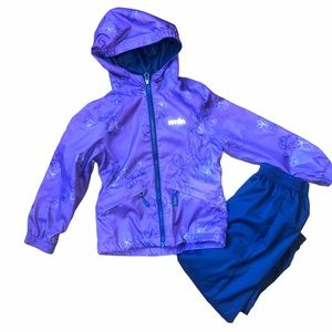 Xmtn 4/5T Girls Splash Suit / Rain Jacket